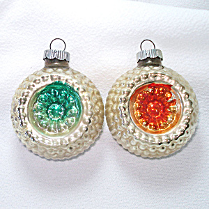 Shiny Brite Bumpy Flower Indent Glass Christmas Ornaments (Image1)