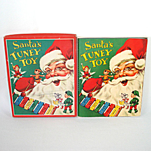 Santa's Tuney Toy 1956 Christmas Pop Up Book With Xylophone (Image1)