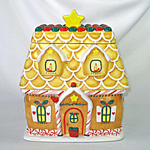 Gingerbread House Christmas Cookie Jar Hallmark