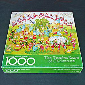 Origin Of 12 Days Of Christmas.Springbok 1000 Piece Twelve Days Of Christmas Jigsaw Puzzle