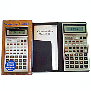 Construction Master II Building Calculator Complete in Box (Image1)