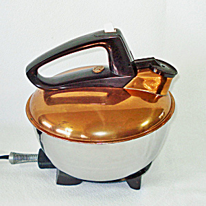 1940s Ge Copper Stainless Electric Tea Kettle