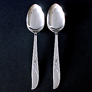 Jennifer Oneida 2 Silverplate Serving Spoons 1959