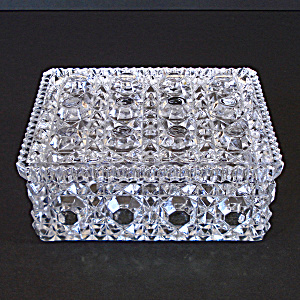 Imperial Button And Cane Crystal Cigarette Or Trinket Box