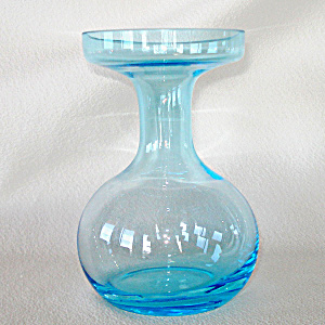 Blue Blown Glass Hyacinth Bulb Forcing Vase