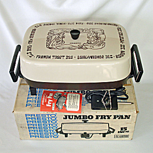 Presto 1970s Jumbo Electric Fry Pan In Original Box