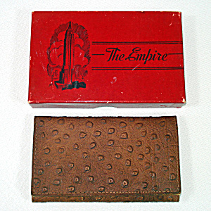 1942 Empire Ostrich Leather Billfold Wallet in Original Box (Image1)