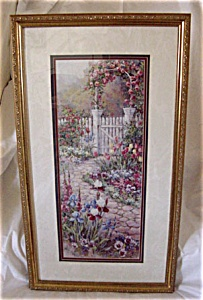 Barbara Mock Rose Trellis Beautiful Framed Print