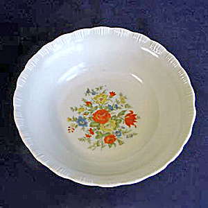 Chinex Flower Bouquet Serving or Vegetable Bowl (Image1)