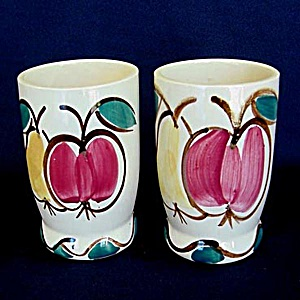 Pair of Purinton Pottery Fruit Water Tumblers (Image1)