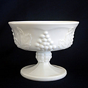 Indiana Milk Glass Harvest Grape Sherbets, 2 Available (Image1)