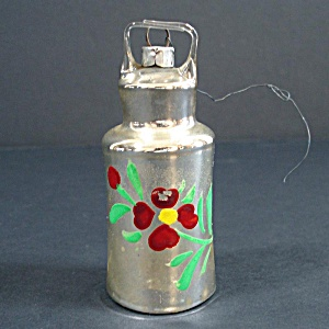 German Mercury Glass Milk Can Christmas Ornament