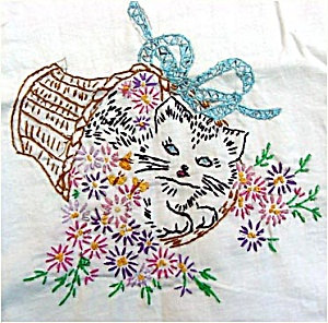 Lady Embroidered Pillowcase Pattern Kit  Free Embroidery