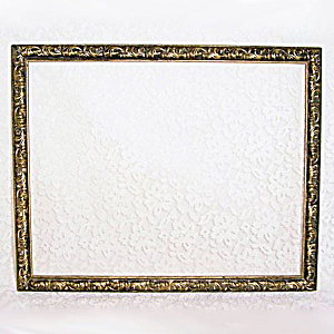 Skinny 14 By 11 Carved Wood Picture Frame In Antiqued Gilt
