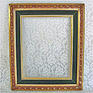 Gold Gilt Green Velvet Picture Frame For 8 By 10 Print