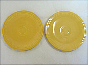 Pair Fiesta Yellow 6 Inch Bread Plates