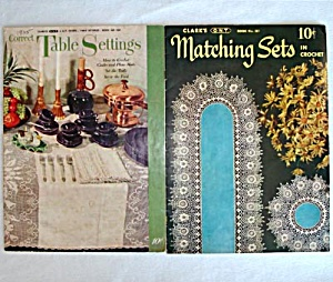 Pair Tablecloths, Table Linens Crochet Pattern Booklets