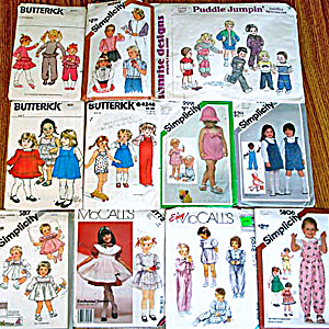Lot of 11 Baby and Toddler Clothing Sewing Patterns (Image1)