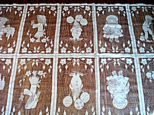 Lace Net Curtain or Fabric Panel Scenes of Children (Image1)