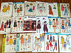 Lot of 17 Kids Clothing Sewing Patterns Size 5 to 6 (Image1)