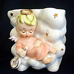 Enesco Sleeping Angel in Clouds Figural Planter (Image1)