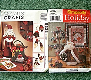 Mccalls, Simplicity Folk Art Santa Christmas Decorations Sewing Patterns