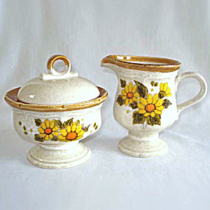 Mikasa Sunny Side Garden Club Creamer and Covered Sugar Set (Image1)