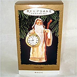 Hallmark 1996 Father Time Timepiece Clock Christmas Ornament MIB (Image1)