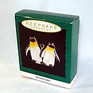 Hallmark 1995 Miniature Playful Penguins Christmas Ornament (Image1)