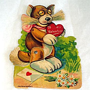 Germany Mechanical Cat Valentine Card
