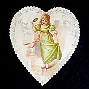 Girl in Heart 1904 Valentine Card (Image1)