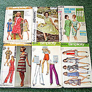 Lot Of 6 Uncut Dress And Ensemble 1960s Sewing Patterns Size 16