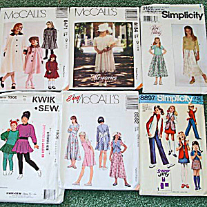 Lot Of 6 Sewing Patterns Girls Clothing Sizes 7 Through 10 Uncut
