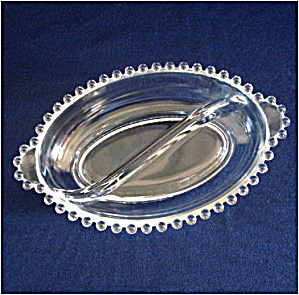 Imperial Candlewick Oval Divided Relish Dish