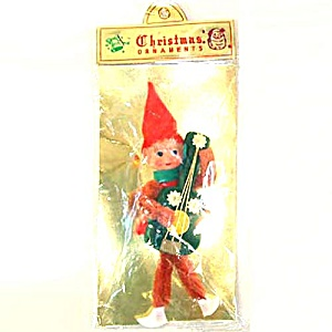 Retro Japan Christmas Pixie Elf With Guitar Mint in Sealed Package (Image1)