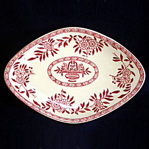 Sterling Red Transfer Restaurant Ware Chop Suey Serving Dish (Image1)