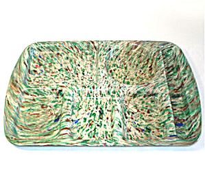 Green and Brown Confetti Speckle Melmac School Lunch Tray (Image1)