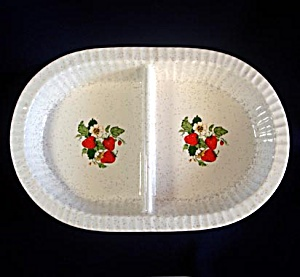 Treasure Craft Strawberries Divided Vegetable Serving Bowl (Image1)
