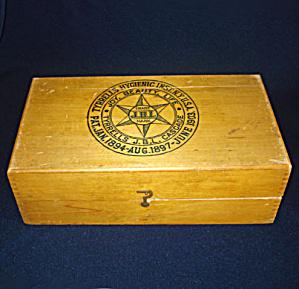 1903 Tyrrells Hygienic Wood Box Quack Medicine Colon Cascade (Image1)