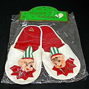 Christmas Novelty Pixie Elf Slippers In Original Package