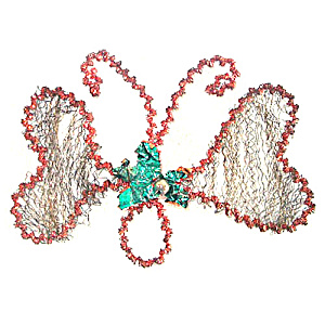 Antique Butterfly Wired Metal Mesh German Christmas Ornament (Image1)