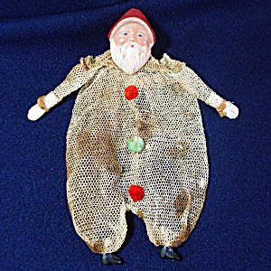 1930s Mesh Netting Santa Claus Candy Container