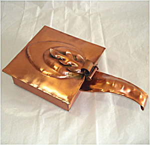 Gregorian Copper Square Silent Butler Leaf Design