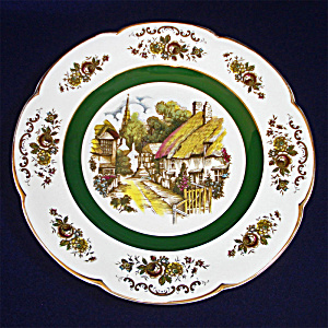 Ascot Village Service Plate Wood And Sons England 1 Of 2