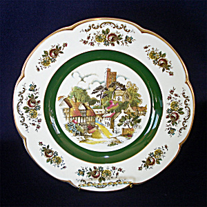 Ascot Village Service Plate Wood And Sons England 2 Of 2
