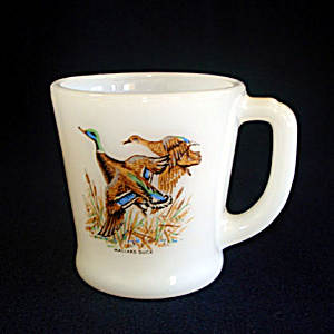 Fire King Game Birds Mallard Duck Coffee Mug (Image1)