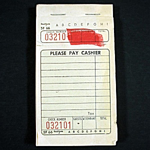 Pad Vintage Restaurant Diner Guest Check Receipts