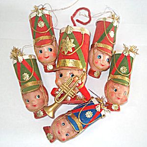 Pixie Elf Nutcracker Soldier Christmas Ornaments, Set 6 (Image1)