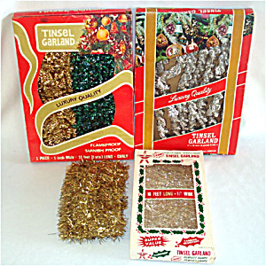 Assortment 4 Packages Christmas Tinsel Garland (Image1)