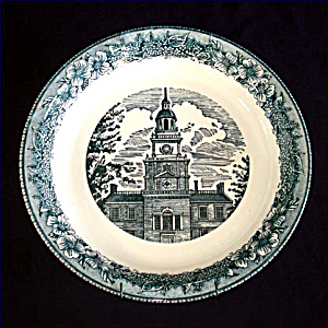 Royal China Colonial Heritage Blue Pie Plate (Image1)